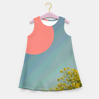 Miniatur Sky and flowers Girl's summer dress, Live Heroes