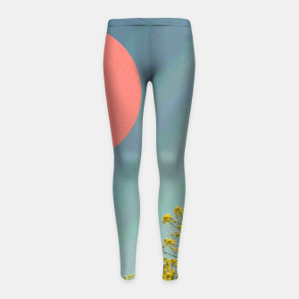 Thumbnail image of Sky and flowers Girl's leggings, Live Heroes