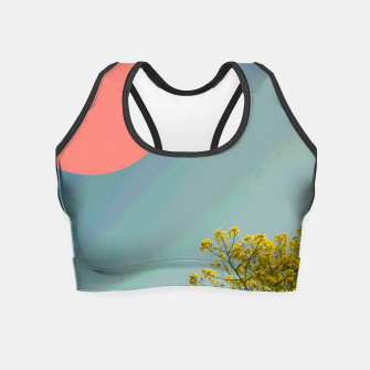 Thumbnail image of Sky and flowers Crop Top, Live Heroes