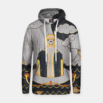 Thumbnail image of Lama in the ocean Hoodie, Live Heroes
