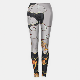 Miniatur Lama in the ocean Leggings, Live Heroes