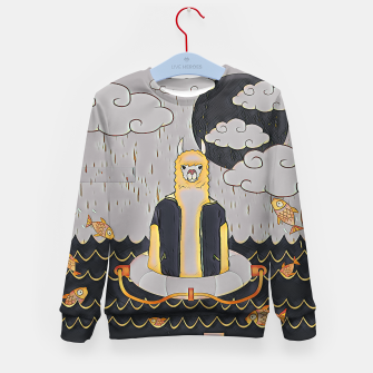 Thumbnail image of Lama in the ocean Kid's sweater, Live Heroes
