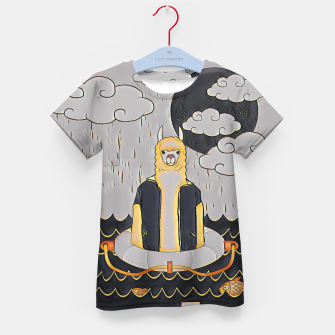 Thumbnail image of Lama in the ocean Kid's t-shirt, Live Heroes