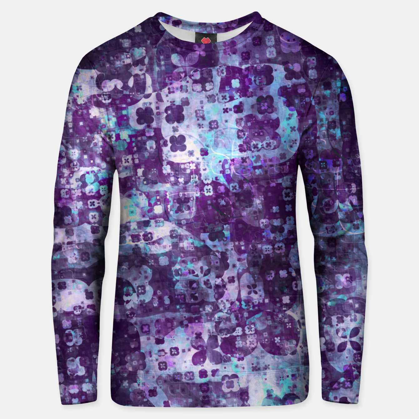 Image of Purple Grunge Fractal Unisex sweater - Live Heroes