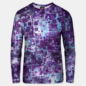 Thumbnail image of Purple Grunge Fractal Unisex sweater, Live Heroes