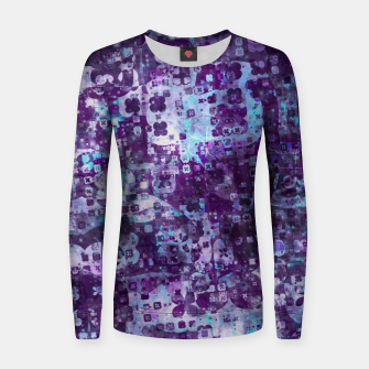 Miniatur Purple Grunge Fractal Women sweater, Live Heroes