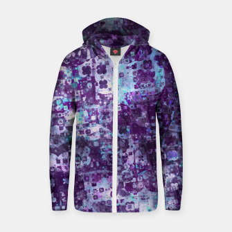 Purple Grunge Fractal Zip up hoodie thumbnail image