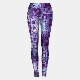 Thumbnail image of Purple Grunge Fractal Leggings, Live Heroes