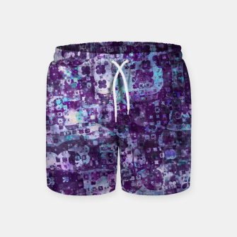 Purple Grunge Fractal Swim Shorts thumbnail image