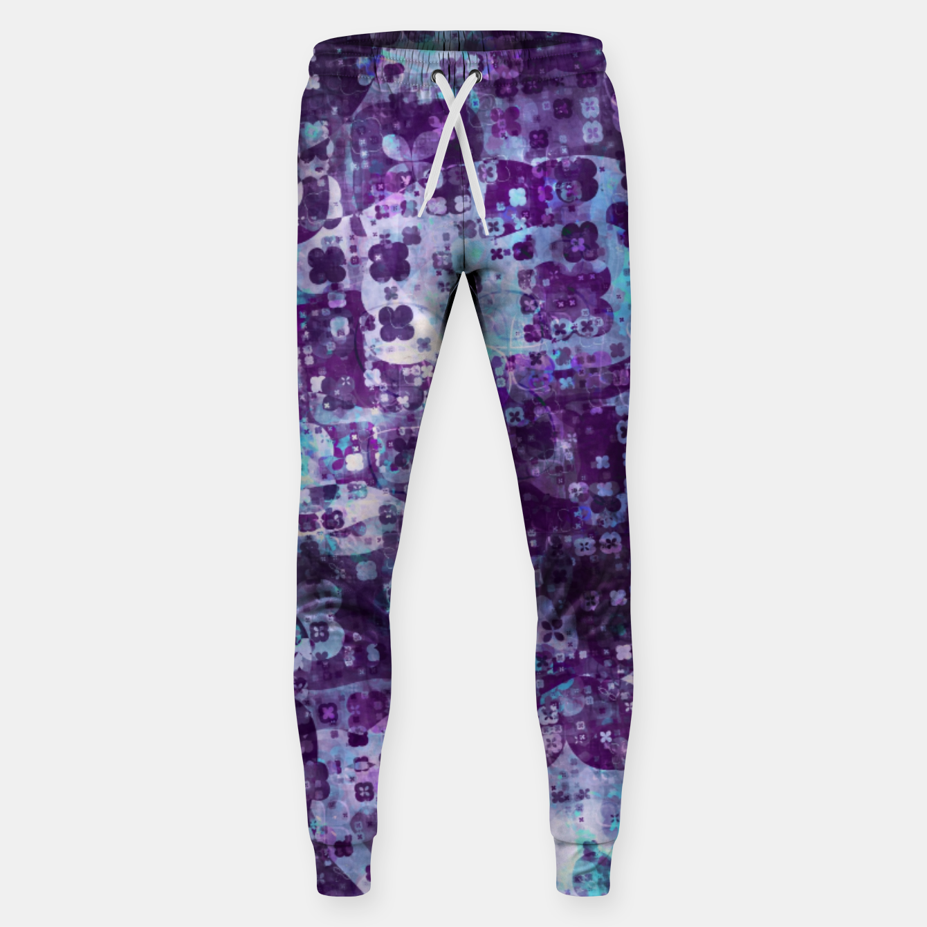 Image of Purple Grunge Fractal Sweatpants - Live Heroes