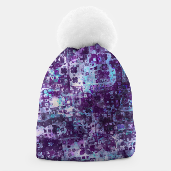 Thumbnail image of Purple Grunge Fractal Beanie, Live Heroes