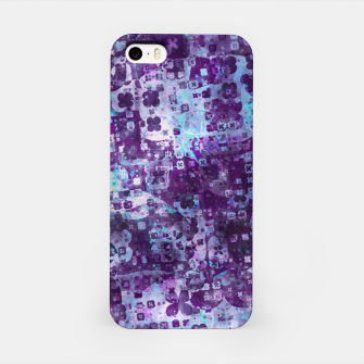 Purple Grunge Fractal iPhone Case Bild der Miniatur