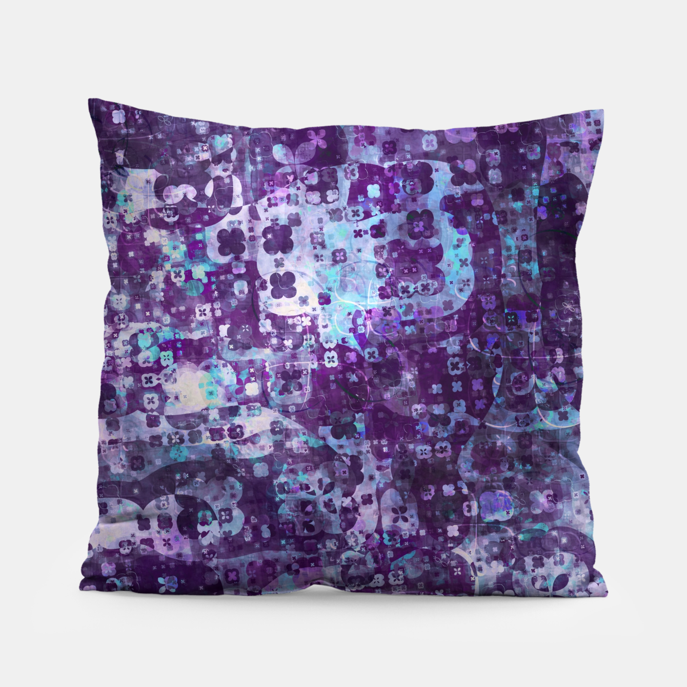 Image of Purple Grunge Fractal Pillow - Live Heroes