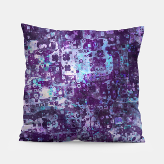 Purple Grunge Fractal Pillow Bild der Miniatur