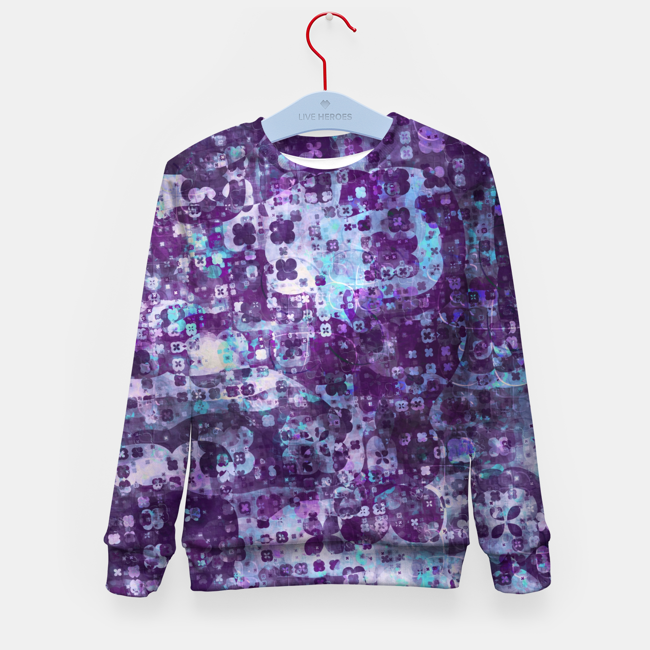 Foto Purple Grunge Fractal Kid's sweater - Live Heroes