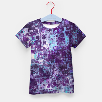 Purple Grunge Fractal Kid's t-shirt thumbnail image