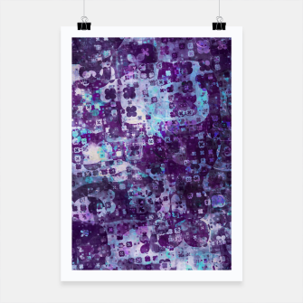 Thumbnail image of Purple Grunge Fractal Poster, Live Heroes