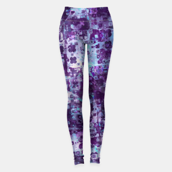 Purple Grunge Fractal Leggings thumbnail image
