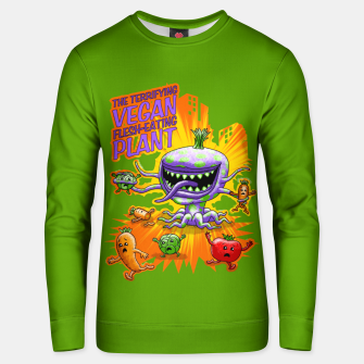 Thumbnail image of Terrifying Vegan Flesh Eating Plant Unisex sweatshirt, Live Heroes