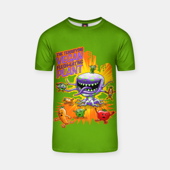 Thumbnail image of Terrifying Vegan Flesh Eating Plant T-Shirt, Live Heroes
