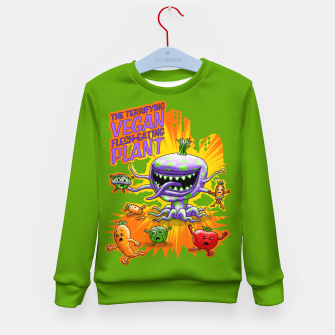 Miniaturka Terrifying Vegan Flesh Eating Plant Kindersweatshirt, Live Heroes