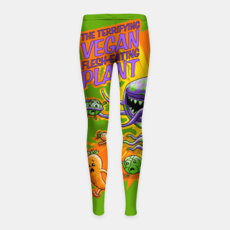 Thumbnail image of Terrifying Vegan Flesh Eating Plant Kinder-Leggins, Live Heroes