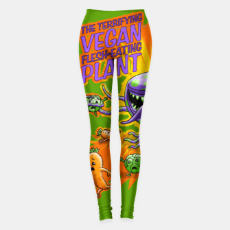 Miniaturka Terrifying Vegan Flesh Eating Plant Leggings, Live Heroes
