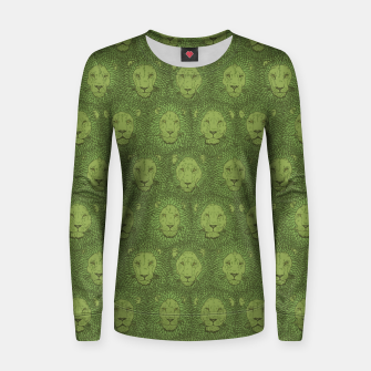 Thumbnail image of Camelot - Copper Green Lions Women sweater, Live Heroes