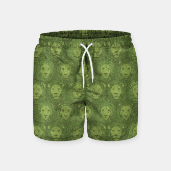 Thumbnail image of Camelot - Copper Green Lions Swim Shorts, Live Heroes