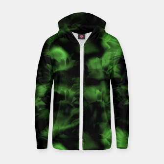Thumbnail image of Emerald Flower Texture Zip up hoodie, Live Heroes