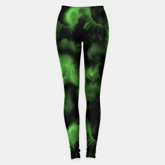Thumbnail image of Emerald Flower Texture Leggings, Live Heroes