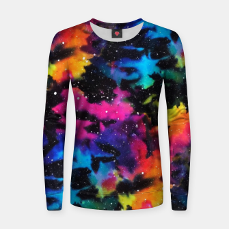 Miniatur Tie Dye Rainbow Galaxy Women sweater, Live Heroes