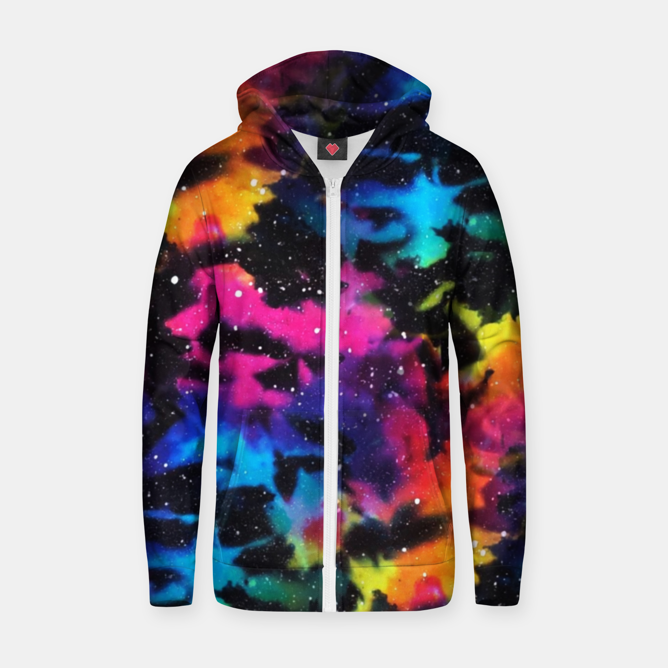 Image of Tie Dye Rainbow Galaxy Zip up hoodie - Live Heroes