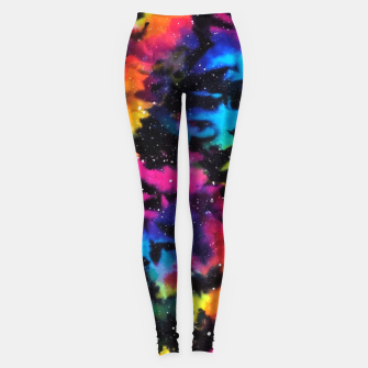Thumbnail image of Tie Dye Rainbow Galaxy Leggings, Live Heroes