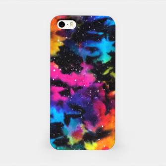 Miniatur Tie Dye Rainbow Galaxy iPhone Case, Live Heroes