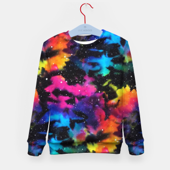 Thumbnail image of Tie Dye Rainbow Galaxy Kid's sweater, Live Heroes