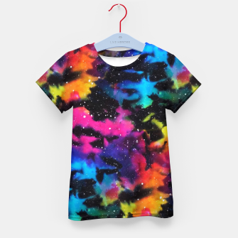 Thumbnail image of Tie Dye Rainbow Galaxy Kid's t-shirt, Live Heroes