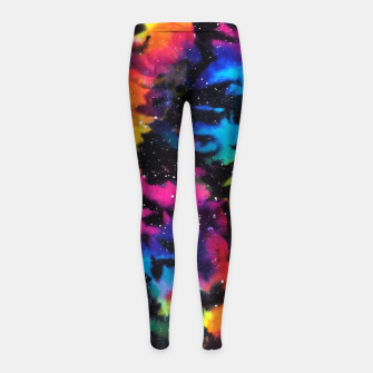 Miniatur Tie Dye Rainbow Galaxy Girl's leggings, Live Heroes