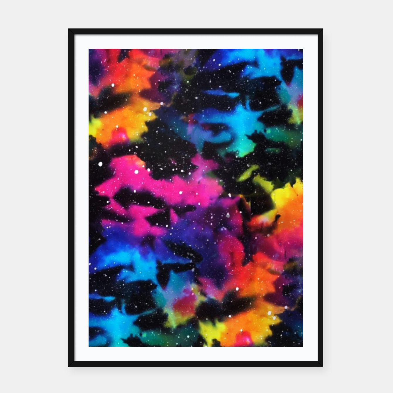 Foto Tie Dye Rainbow Galaxy Framed poster - Live Heroes