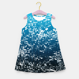 Miniaturka Sea Blues Girl's summer dress, Live Heroes