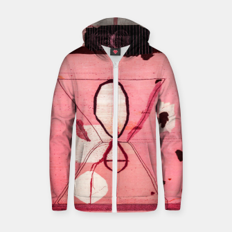 Thumbnail image of Oriental Moroccan Pink & Black Artwork Zip up hoodie, Live Heroes