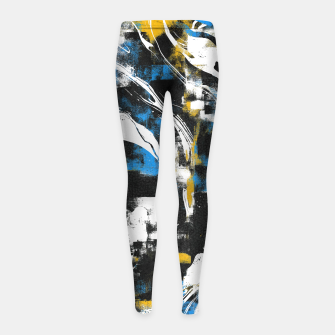 Abstract Flow I Girl's leggings obraz miniatury