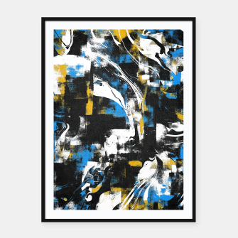 Abstract Flow I Framed poster obraz miniatury