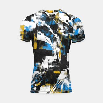 Abstract Flow I Shortsleeve rashguard obraz miniatury