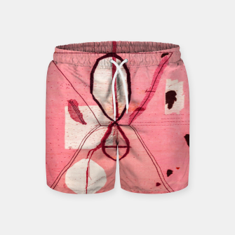 Thumbnail image of Oriental Moroccan Pink & Black Artwork Swim Shorts, Live Heroes