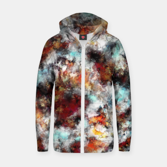 Thumbnail image of Volcanic ice Zip up hoodie, Live Heroes