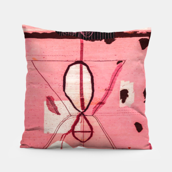 Thumbnail image of Oriental Moroccan Pink & Black Artwork Pillow, Live Heroes