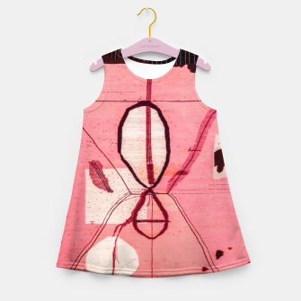 Thumbnail image of Oriental Moroccan Pink & Black Artwork Girl's summer dress, Live Heroes