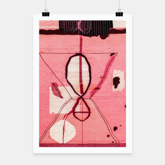 Thumbnail image of Oriental Moroccan Pink & Black Artwork Poster, Live Heroes