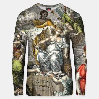 Thumbnail image of Old Cartographic Map Line Art Unisex sweater, Live Heroes
